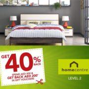 Home Centre 40% Back* Promotion