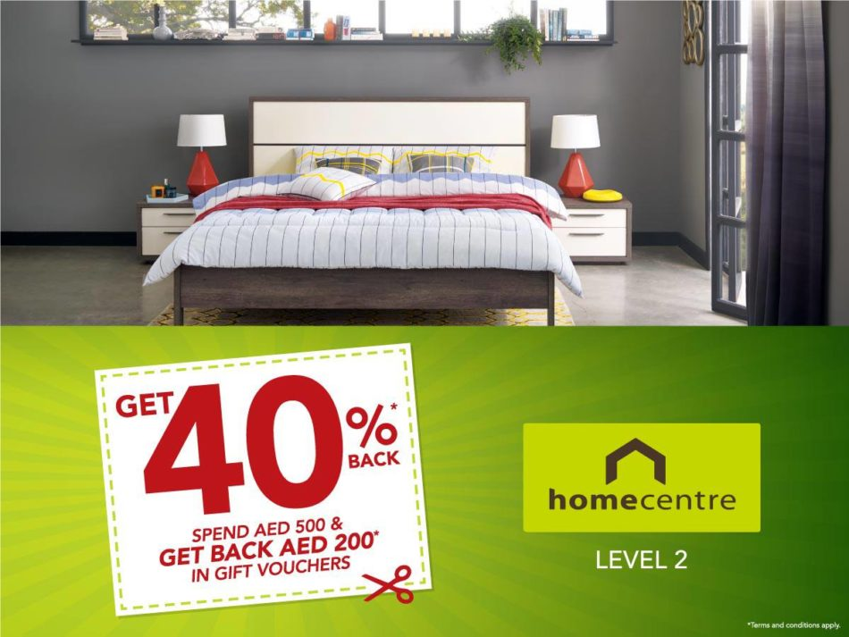 Home Centre 40% Back* Promotion