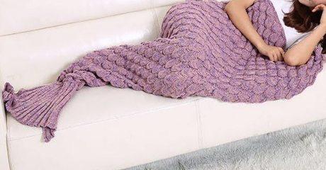 Knitted Mermaid Blanket