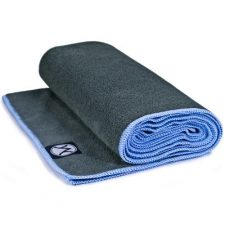 Youphoria Yoga 24 Inches x 72 Inches Grey and Blue Towel