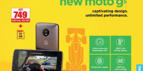 New Motorola Moto g5 for only AED 749