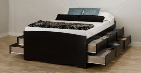 12-Drawer Platform Storage Bed