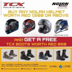 Buy Nolan Helmet get TCX Boots Free Discount Sales ae