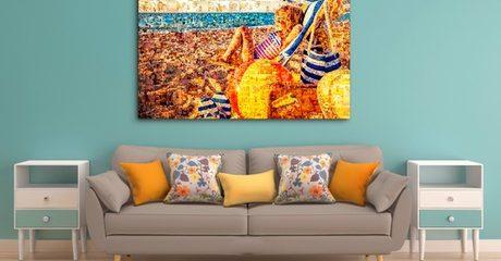 Customised Mosaic Print Canvas