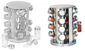 Glass and Chrome Spice Rack