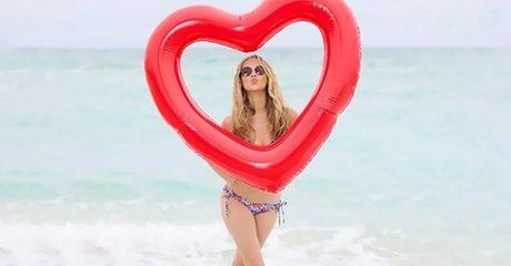 Jumbo Heart Pool Float
