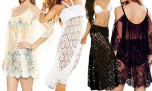 Lace Floral Beach Dress