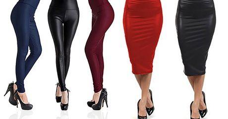 Leather-Look Leggings or Skirt