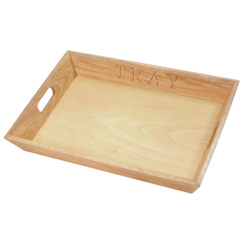 Serving Tray Natural Rubberwood