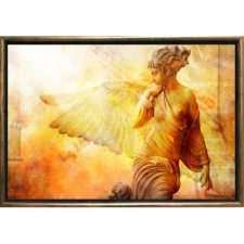 Startonight Luxury Framed Art Angel Dual View Surprise 19.69 inch By 27.56 inch Abstract Collection Wall Art