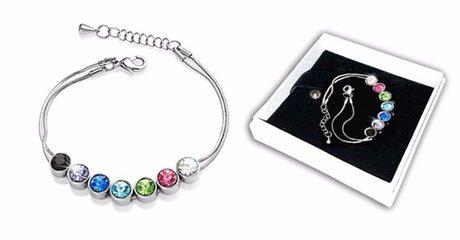 Swarovski Crystal 7-day bracelet