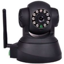 Wireless IP WiFi Security Camera with Audio and IR Night Vision Black