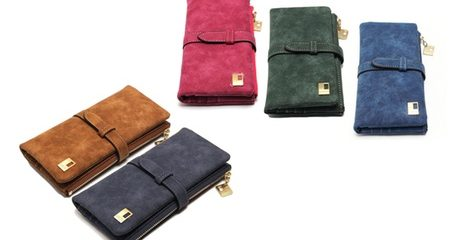 Women's Suede Wallet