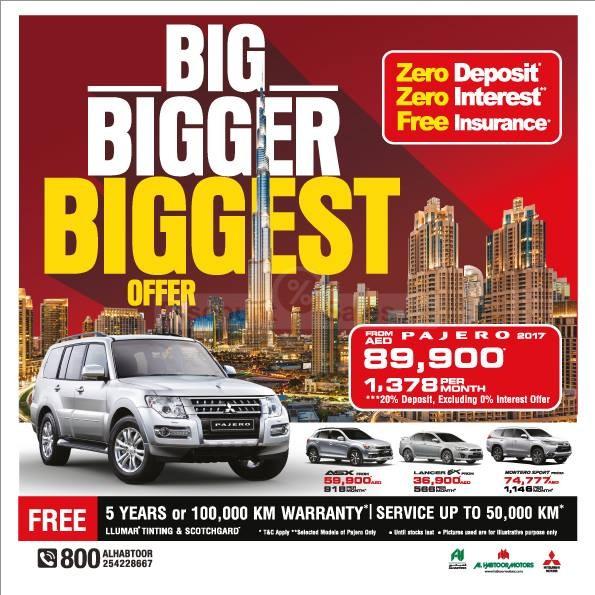 Mitsubishi Pajero Big Bigger Biggest Offer At Al Habtoor