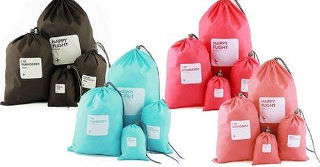 8-Piece Drawstring Travel Bags Set