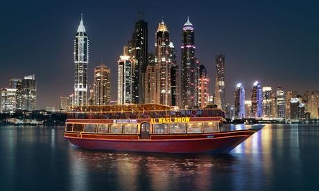 Al Wasl Dhow Cruise Dinner at Dubai Marina