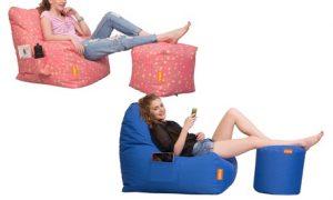 Bean Bag Chair with Puffy