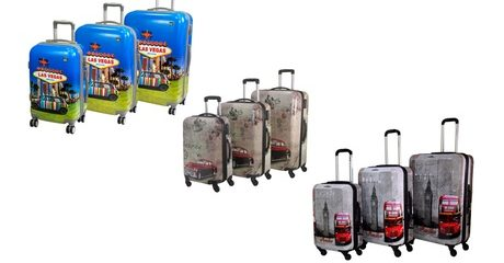 Hard Case 3-Piece Luggage Sets
