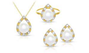 Natural Pearls and Diamond Sets