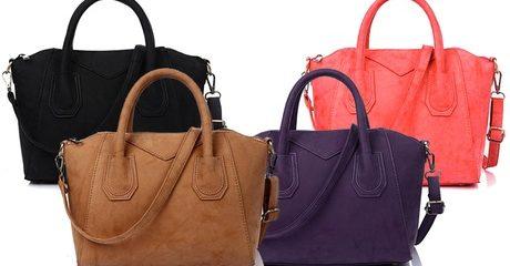 Women's Suede-Look Handbag