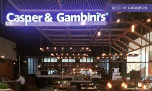 AED 200 Toward the Whole Menu at Casper & Gambini's