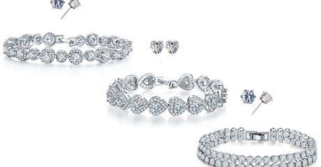 Bracelets with Swarovski Crystals