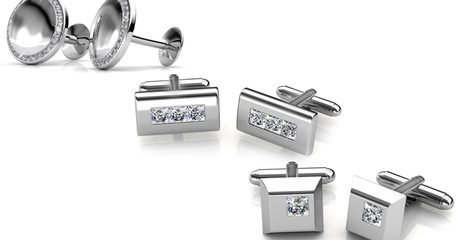 Cufflinks with Swarovski Crystals
