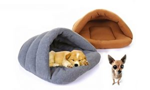 Igloo-Style Polar Fleece Pet Bed