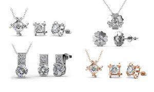 3-pc set with Swarovski Crystals