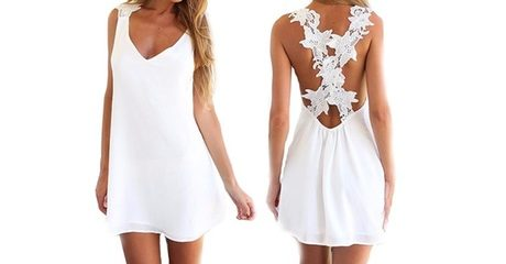 Beach Dress With Lace Back