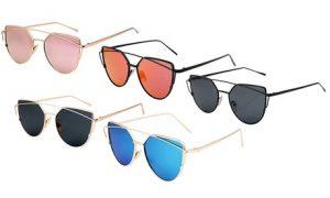 Cat Eye Mirror-Effect Sunglasses