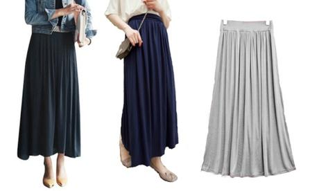 Elasticated Waist Maxi Skirt