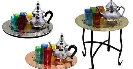 Moroccan Tea Serving Tray Set