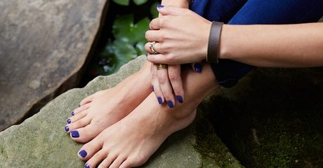Get pampered with a regular or Gelish mani-pedi