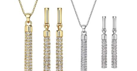Bar Necklace and Earrings Set