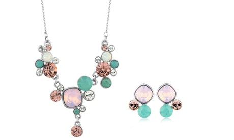 Earrings or Necklace with Crystals