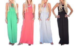 Gathered Maxi Dress