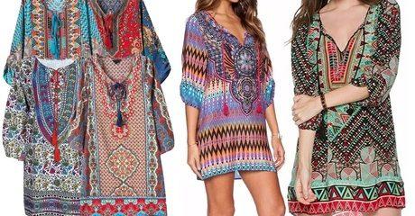 Printed Kaftan Beach Dress