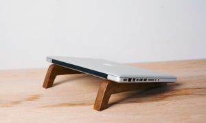 Two-Piece Wooden Laptop Stand
