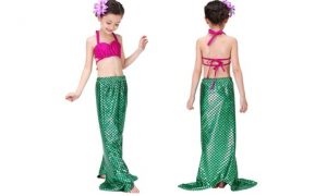 Girls' 3-Piece Mermaid Swimsuit