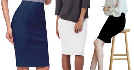 High-Waisted Bodycon Pencil Skirt