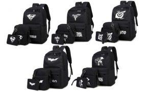 Luminous Backpacks Three-Pc Set