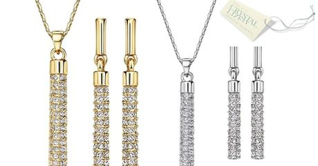 Swarovski Elements Bar Set
