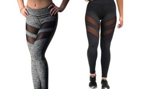 Women's Mesh Insert Workout Leggings