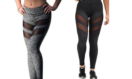 Women's Mesh Insert Workout Leggings