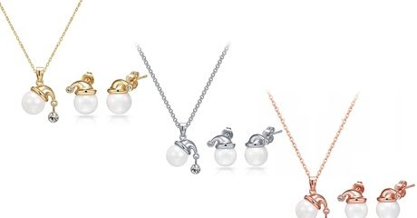 Christmas Jewellery Set made with Crystals from Swarovski