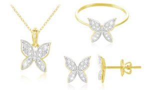 Diamond Butterfly Jewellery