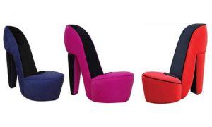 Fabric Modern Heel Chair