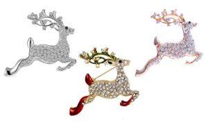 Reindeer Christmas Brooch