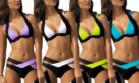 Two-Colour Push-Up Bikini